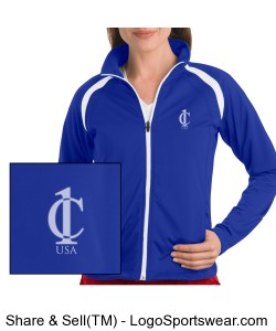 Ladies Tricot Track Jacket Design Zoom